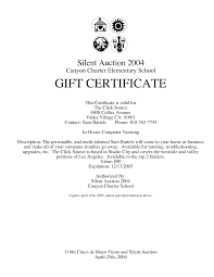 Silent Auction Gift Certificate Template Best Business Template
