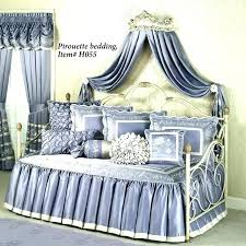 bed crown canopy wall rose antique ivory teester molding