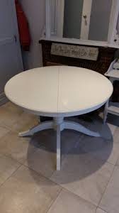 white round ikea ingatorp extendable table