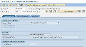 Gl Chart Of Accounts A Maintain Gl Account In Chart Of Account Level Individual