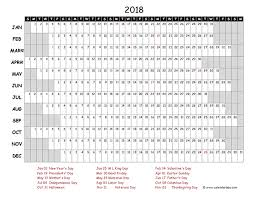 yearly printable calendar 2018 2018 calendar excel tempss co lab co