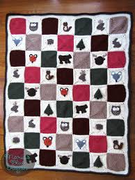 Woodland Granny Square Afghan Free Crochet Pattern Marias