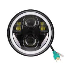 "<b>5 3/4</b>"" <b>5.75 inch Motorcycle</b> Moto LED Projector Full Halo Headlight ..."
