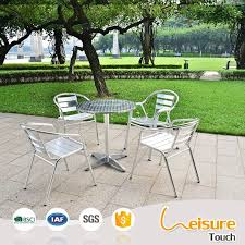 aluminum restaurant patio furniture. foshan metal outdoor furniture aluminum table and chairs bar restaurant patio g