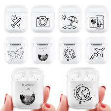 Cute <b>Cartoon</b> Clear <b>PC</b> Case For Airpods 1 2 Wireless <b>Headphone</b> ...