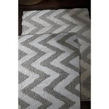 Gray Chevron Bath Mat