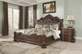 Amish Ashley Furniture Sleigh Beds — Suntzu King Bed Ashley