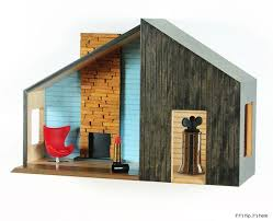 mid century modern dollhouse furniture. these wall mounted midcentury modern dollhouses are made to double as actual shelving for mid century dollhouse furniture
