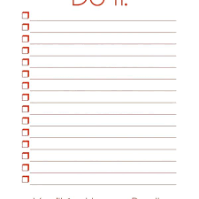 Things To Do List Template Printable Sheet Metal Fabrication Images