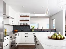 White Modern Kitchen Endearing Modern White Kitchen With Wide White Island And