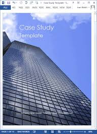 Microsoft Word Study Guide Template 19 Case Study Templates Ms Word How To Write Tutorial