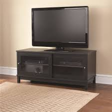 mainstays 55 tv stand with sliding glass doors black ebony ash in proportions 2000 x 2000