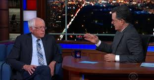 Stephen Colbert Gets Bernie Sanders to Answer the Question ...