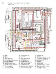 vw volkswagen repair manual station wagon bus type 2 1968 1979 click to enlarge and for longer caption if available color wiring diagram appendix