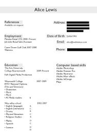 Resume Alice S Blog