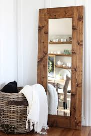 Homemade Rustic Picture Frames Diy Wood Framed Mirror The Wood Grain Cottage