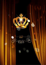 Black Vip Golden Crown Sparkly Curtains Stage Party Photo Backdrop