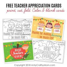 Free Downloads Thank You Cards 20 Awesome Teachers Day Card Ideas With Free Printables