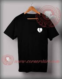 His And Hers Custom Design Broken Heart Custom Design T Shirts Price 12 00