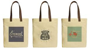 image is loading summer travel e beige printed canvas tote bags