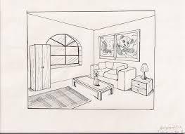 living room drawing by kj-art ...