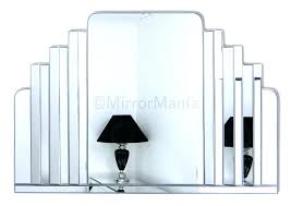 wall mirrors art original handcrafted art wall mirror large central shaped mirror is framed by six