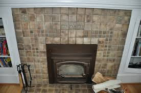 tile fireplace surround decor remodeling images good ave tiling over painted brick full size