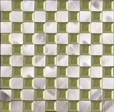 factory fashionable crystal glass mix brushed aluminium mosaic metal wall tile for interior home kitchen backsplash
