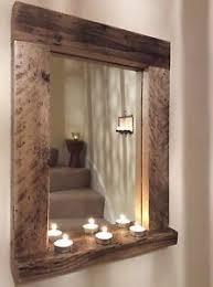 bathroom mirror with wood shelf. wooden / wood mirror with shelf, handmade, reclaimed wood, pine, rustic, bathroom shelf e