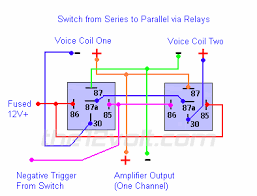 special applications spdt relays switching from series to parallel and back via relays