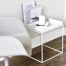 hay tray side table white 40x40 cm
