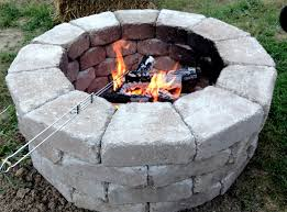 Fast And Easy Fire Pit Stones Came From Home Depot And Cost Less Home Depot Fire Pit