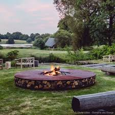 zero 300 extra large outdoor rust finish corten steel fire pit for resort hotel large metal fire pit a93
