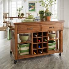iNSPIRE Q Eleanor Two-Tone Rolling Kitcn Island with Wine Rack by Classic -  Walmart.com