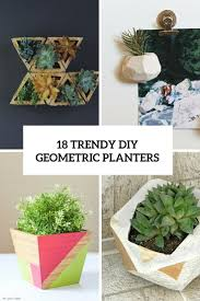 18 DIY geometric planters. Awesome !
