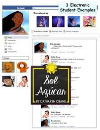 facebook template for student projects. Spanish Facebook Project Templates Project Rubric Student Examples