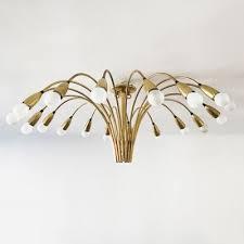 large 18 arm sputnik chandelier from kaiser leuchten 1950s 1
