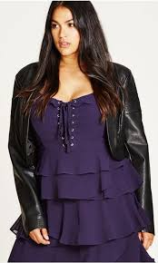 women s plus size women s plus size faux leather jacket city chic usa