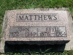 Effie Matthews (1876-1964) - Find A Grave Memorial