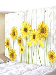 yellow wall decor blooming sunflower pattern tapestry inch yellow wall decor