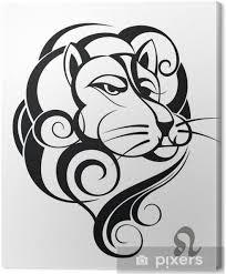 Obraz Znamení Lev Tetování Design Na Plátně