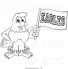 Vector Coloring Page of a Coloring Page Outline of a Bald Eagle ...