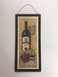 special times merlot and grapes tuscan wine wooden kitchen wall art sign  on wooden wine bottle wall art with amazon special times merlot and grapes tuscan wine wooden