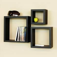 wooden cube wall shelves set of   wall shelves  homeshop