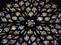 paris france stained glass rosary wallpaper