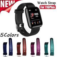 <b>Silicone</b> Watch Strap For 116 Plus <b>Smart</b> Bracelet Sport Watch Band ...