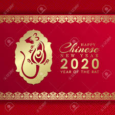 chinese new year card 2020 happy chinese new year 2020 banner card with gold rat chinese