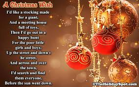 short christmas poem and poetry