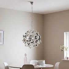 caladane chrome effect 4 lamp pendant