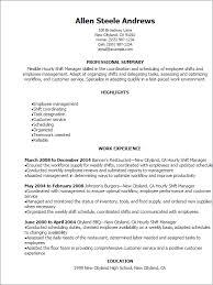Shift Manager Resume 4 Samples Techtrontechnologies Com